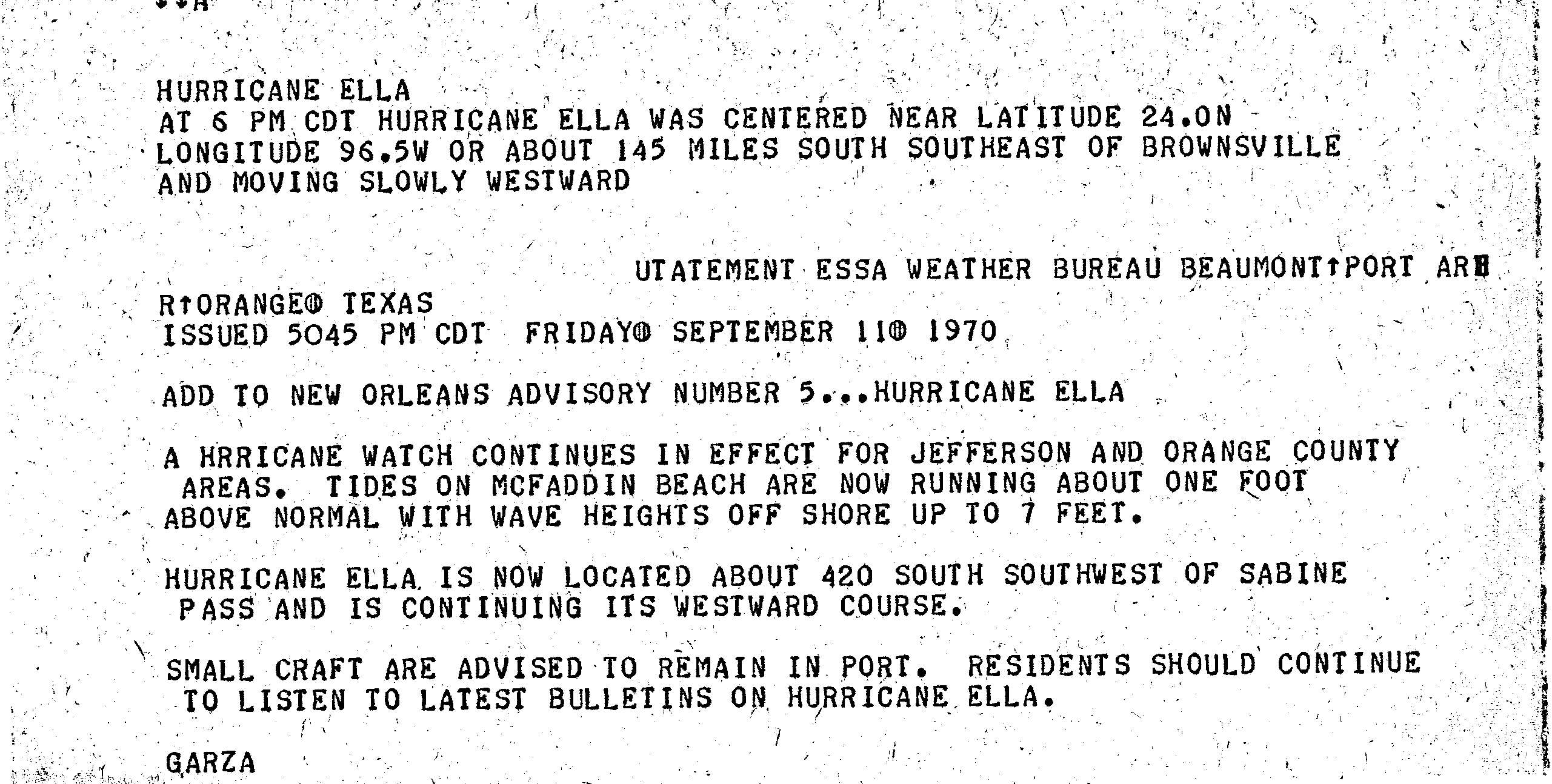 1970 Atlantic hurricane season