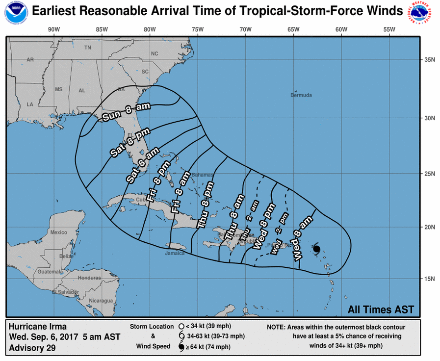 Arrival Time of Tropical-Storm-Force Winds image example