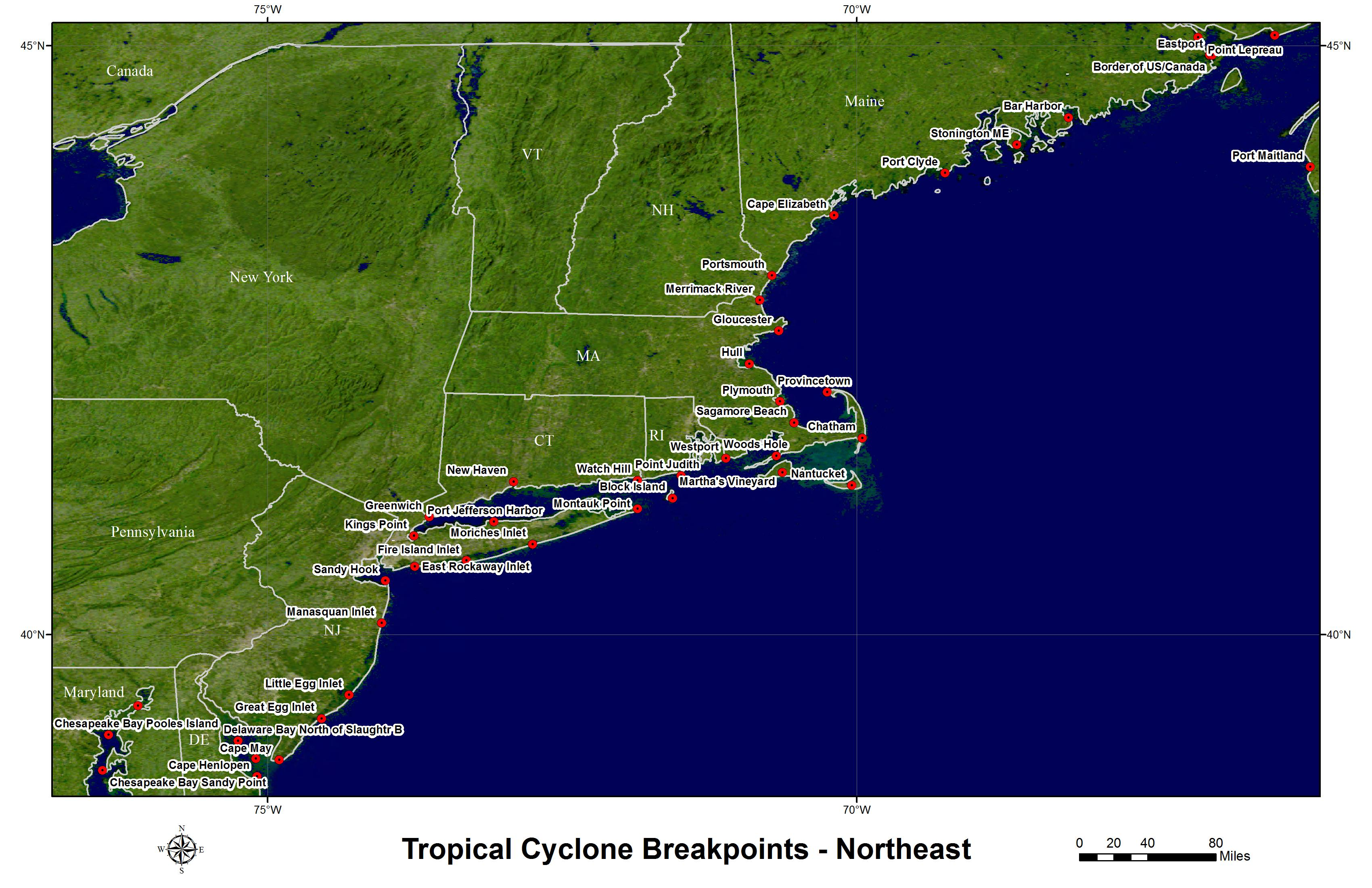 Hurricane and Tropical Storm Watch/Warning Breakpoints