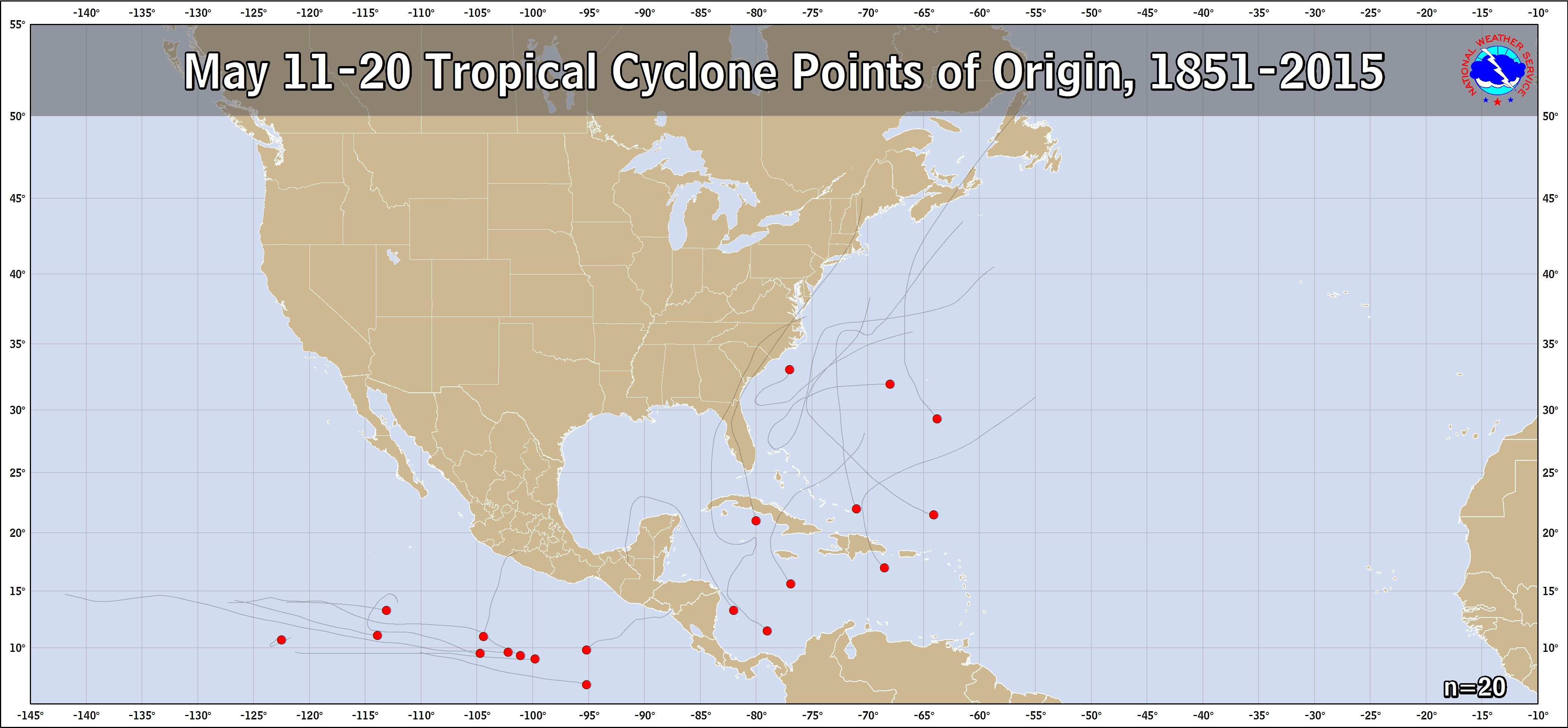 Tropical Cyclone Genesis Climatology