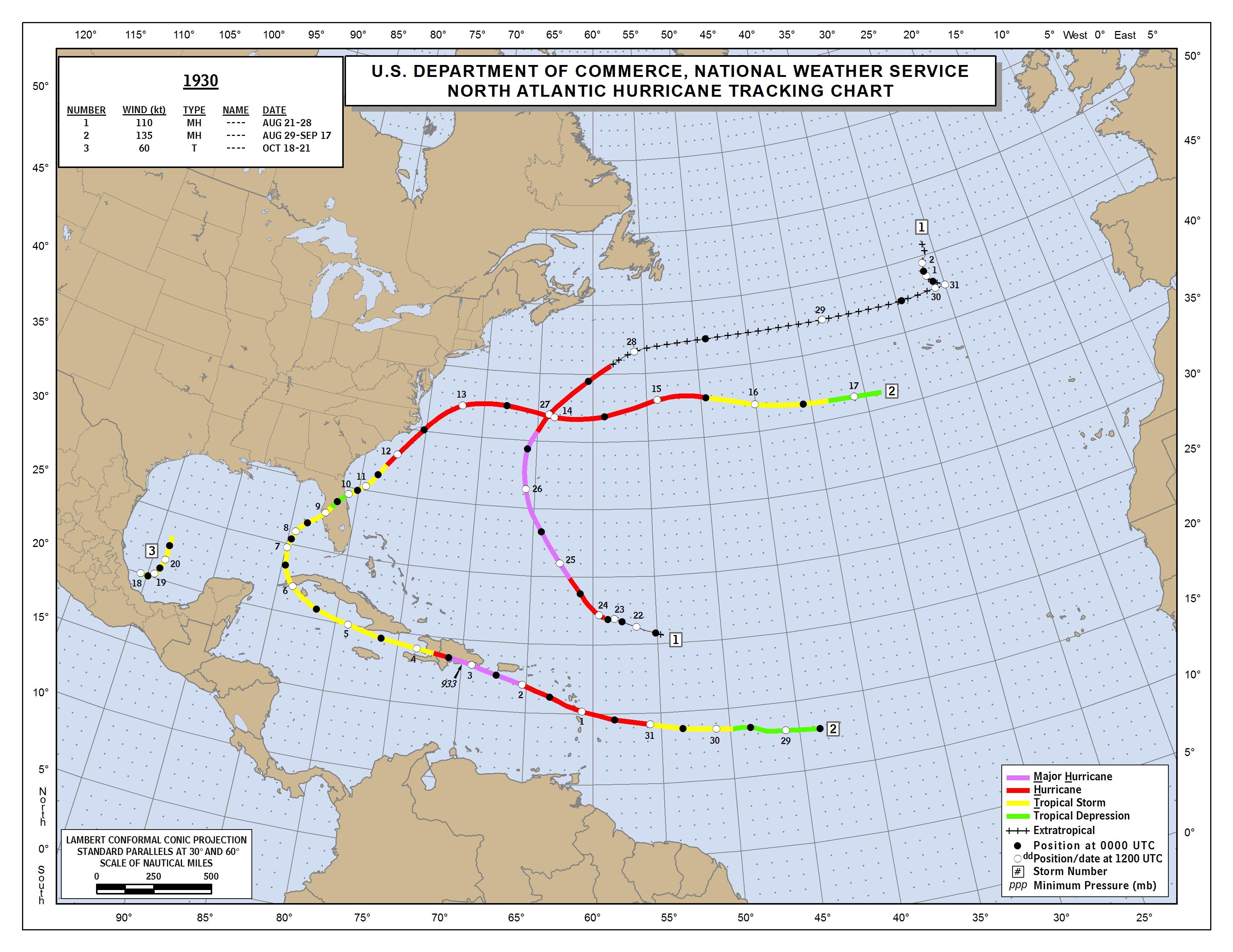 NHC Data Archive - Us map 1930