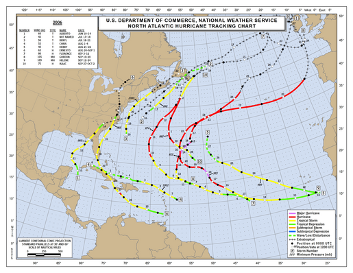 2006 North Atlantic Hurricane Season Track Map