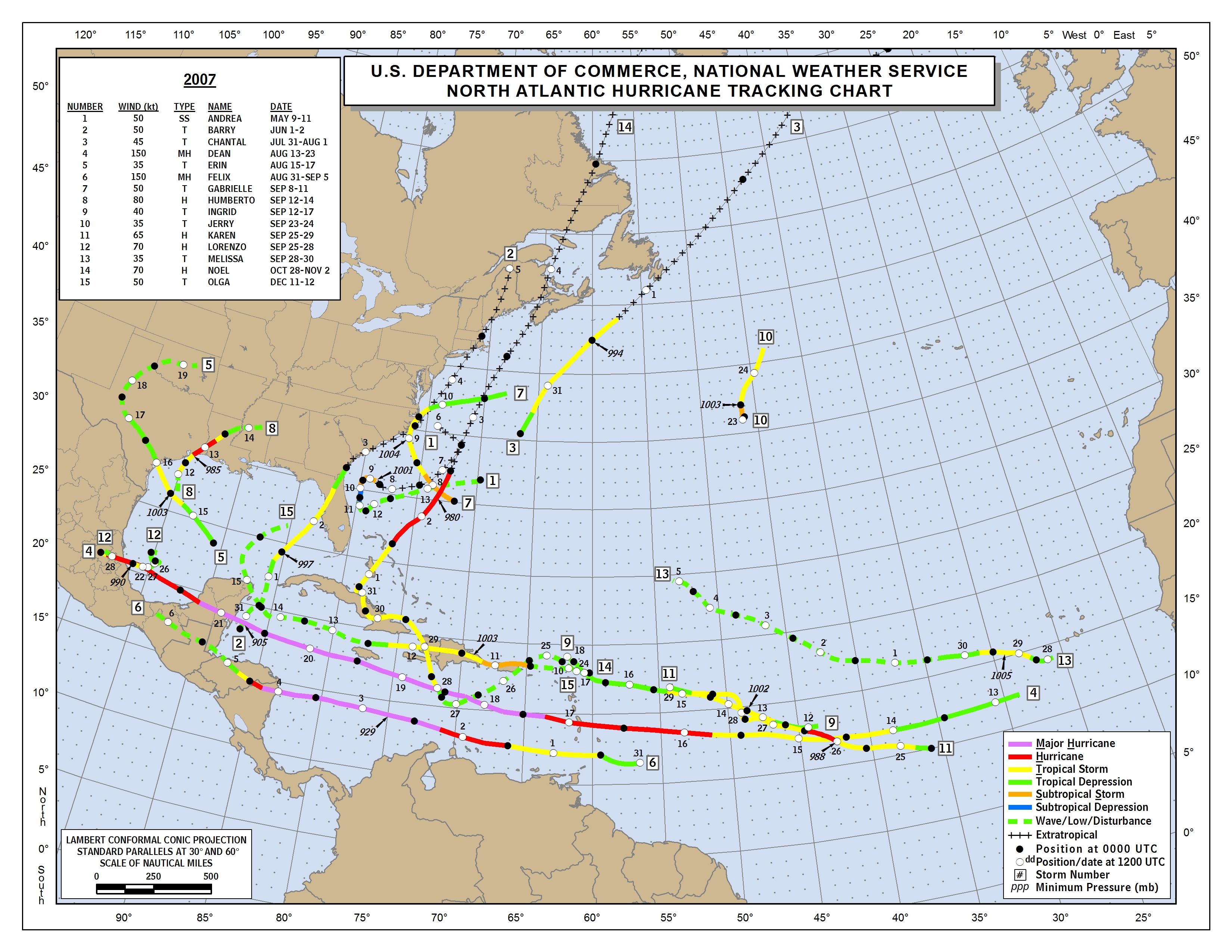 JHU/APL Atlantic Hurricane Track Maps & Images  |Atlantic Hurricane Tracking Map