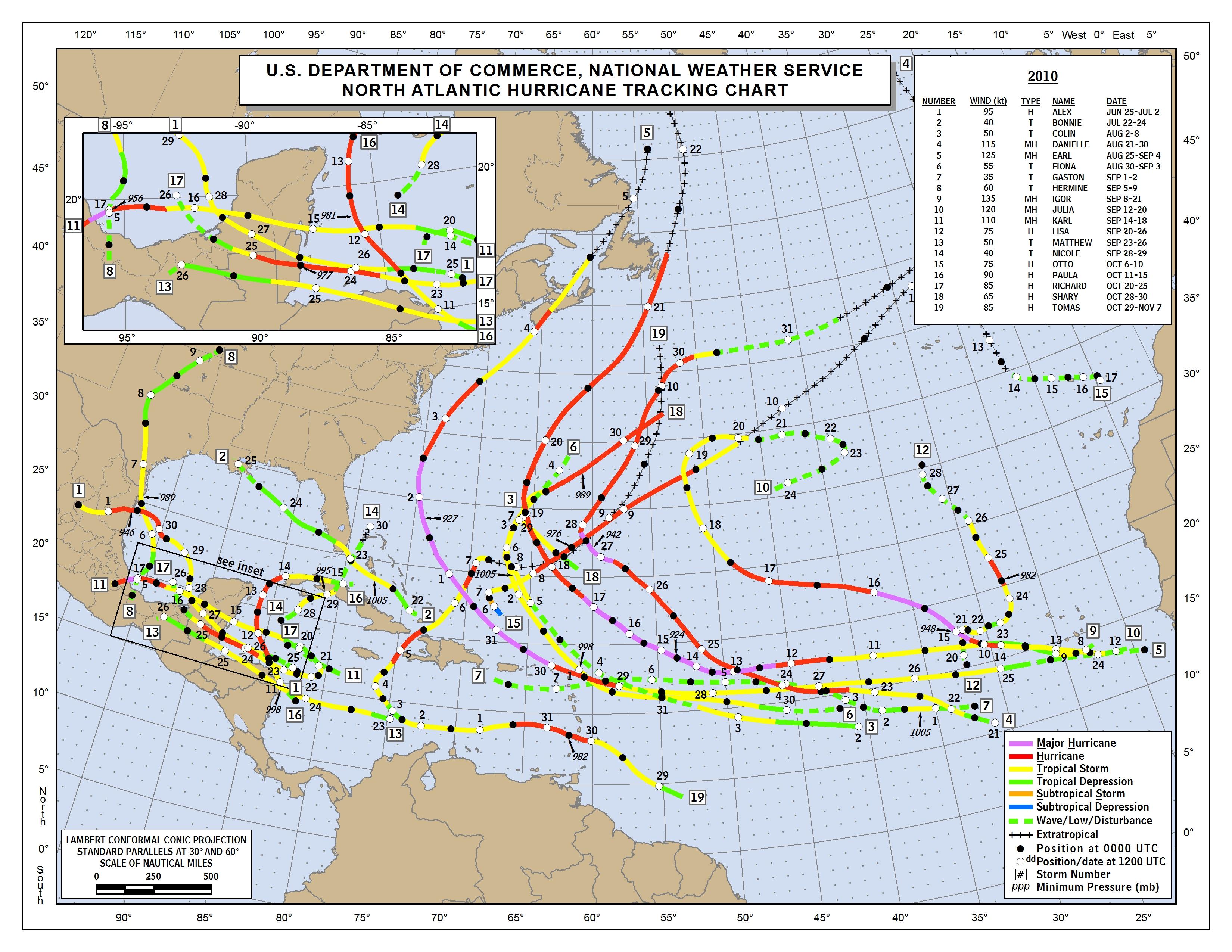2016 Atlantic Hurricane Season  |Atlantic Hurricane Tracking Map