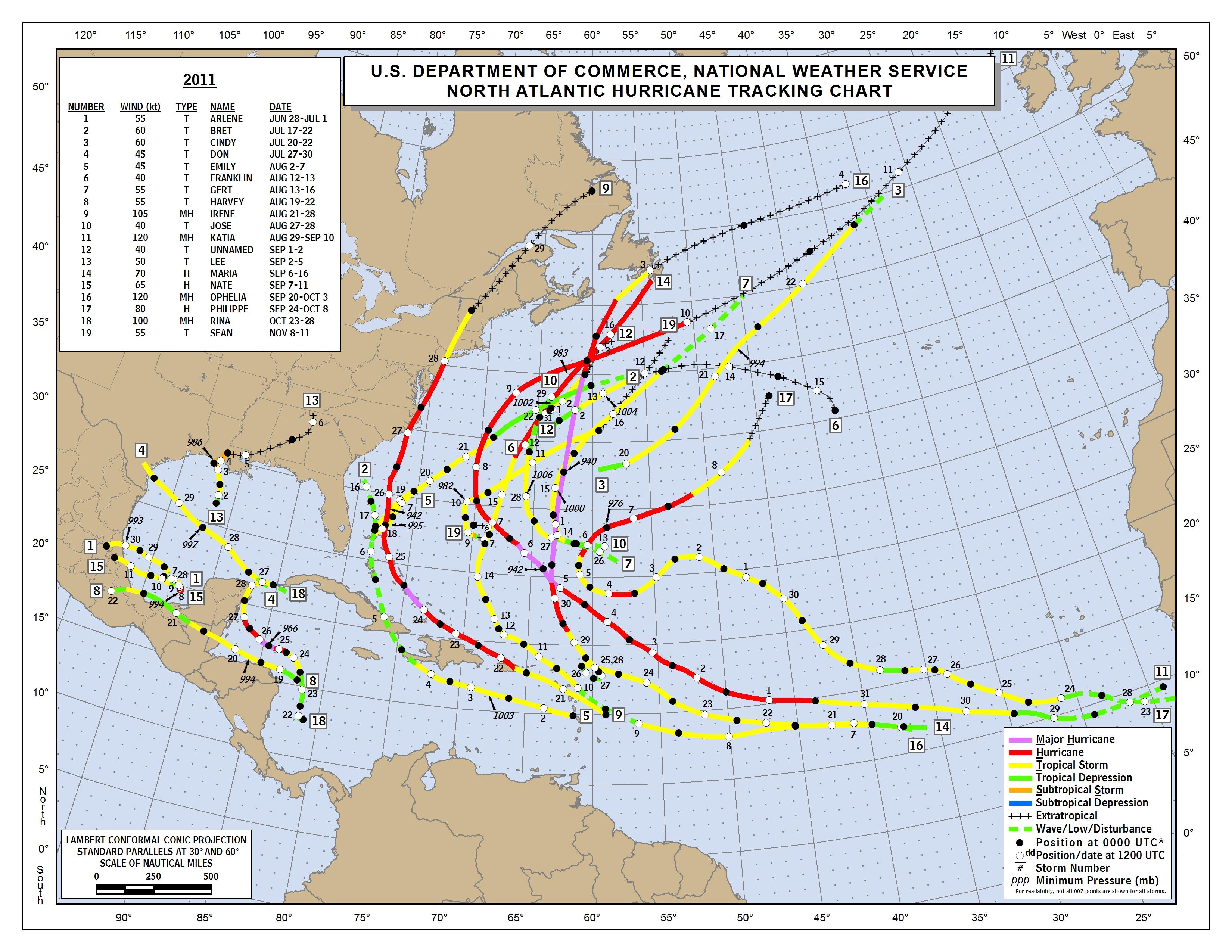 2013 Atlantic Hurricane Season  |Atlantic Hurricane Tracking Map
