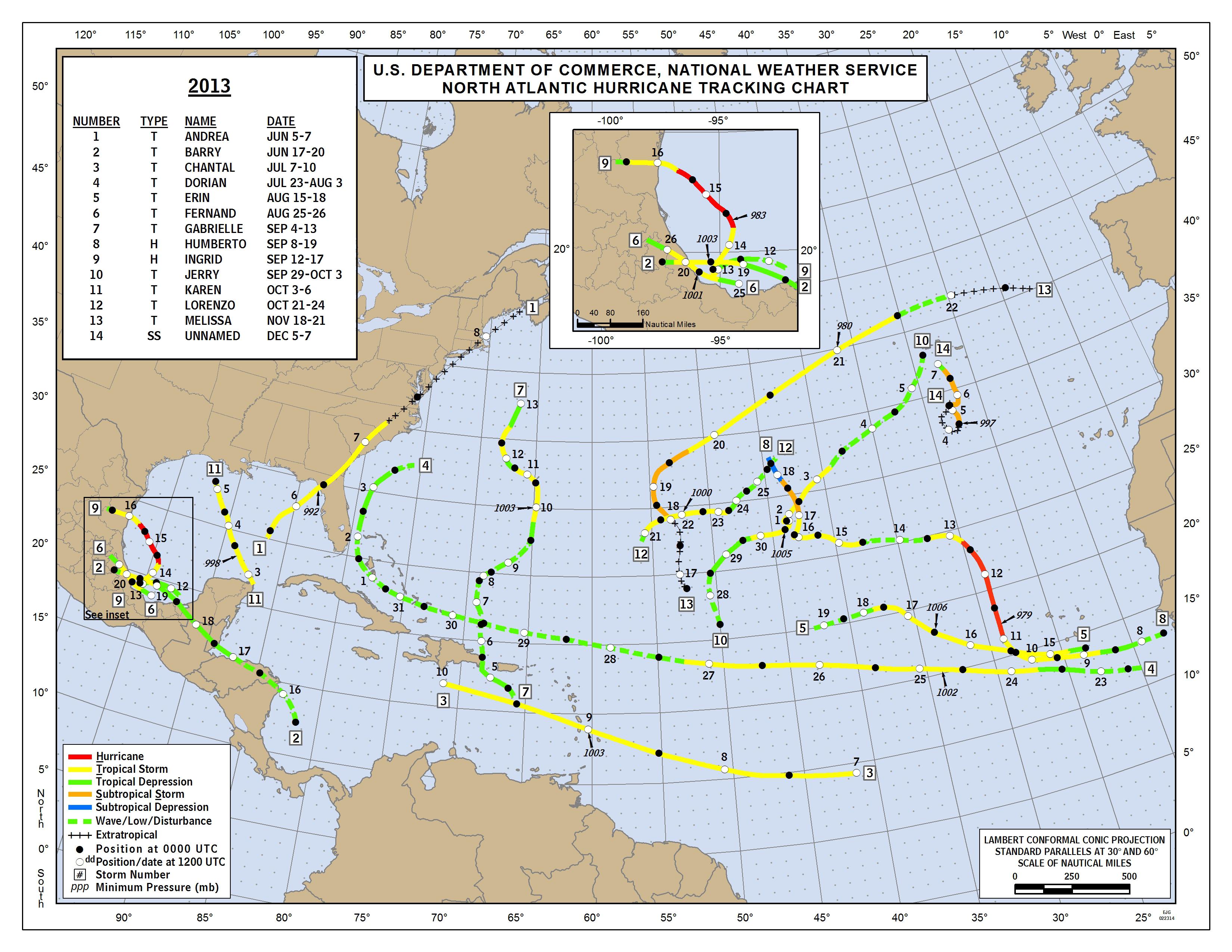 2007 Atlantic Hurricane Season  |Atlantic Hurricane Tracking Map