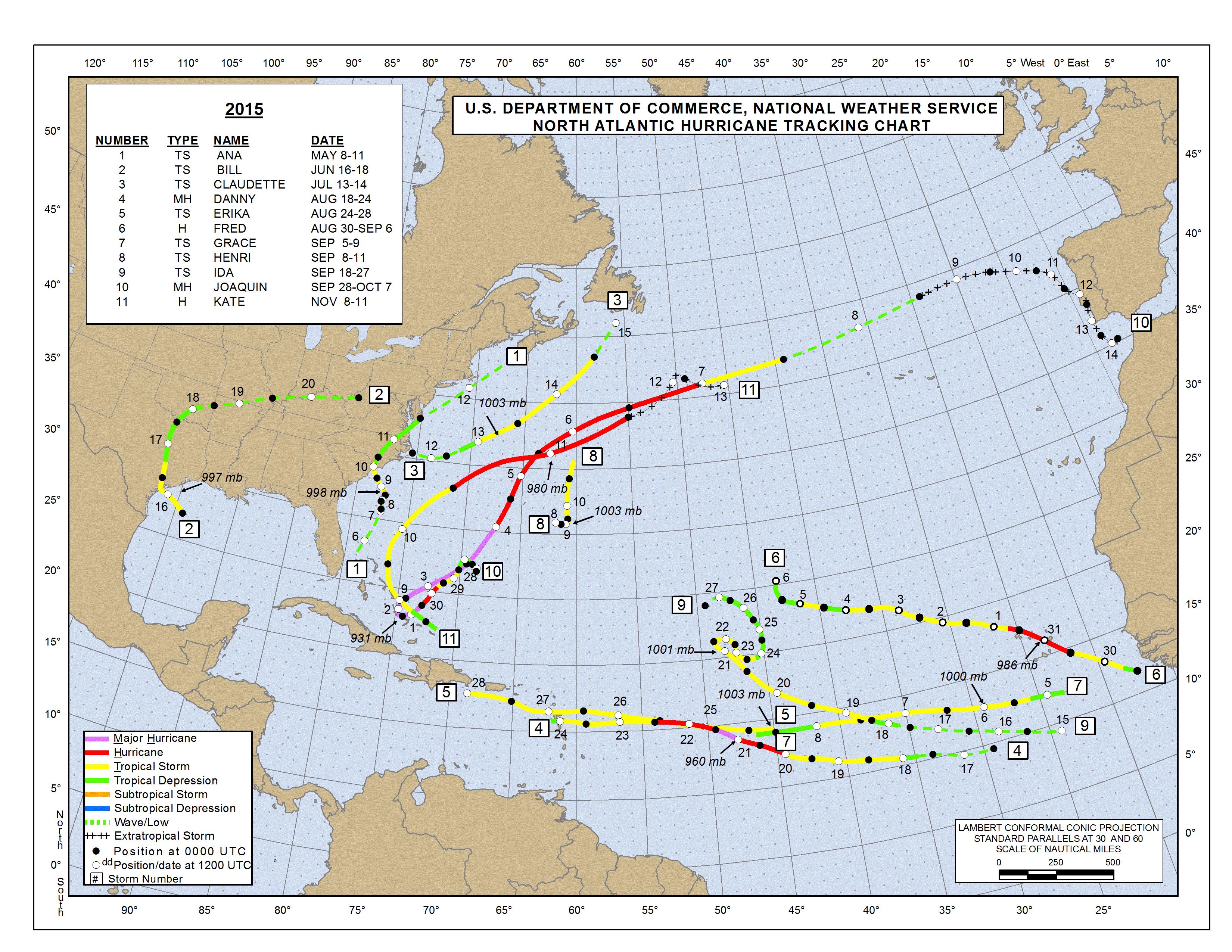 NOAA Provides Easy Access to Historical Hurricane Tracks ...  |Atlantic Hurricane Tracking Map
