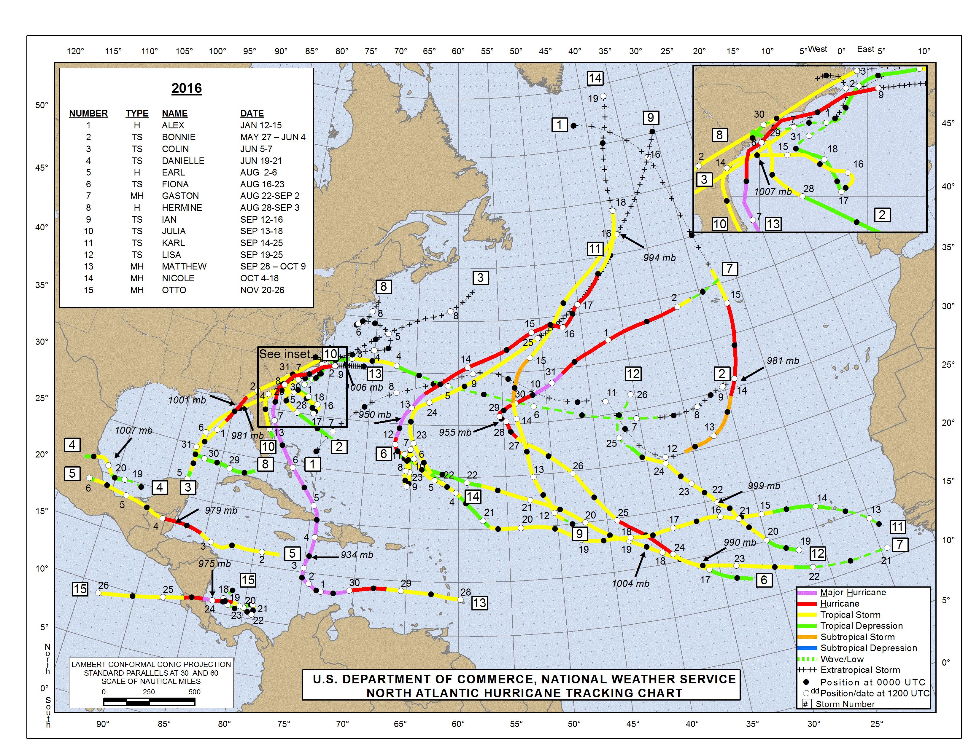 Hurricane Tracking Map  |Atlantic Hurricane Tracking Map