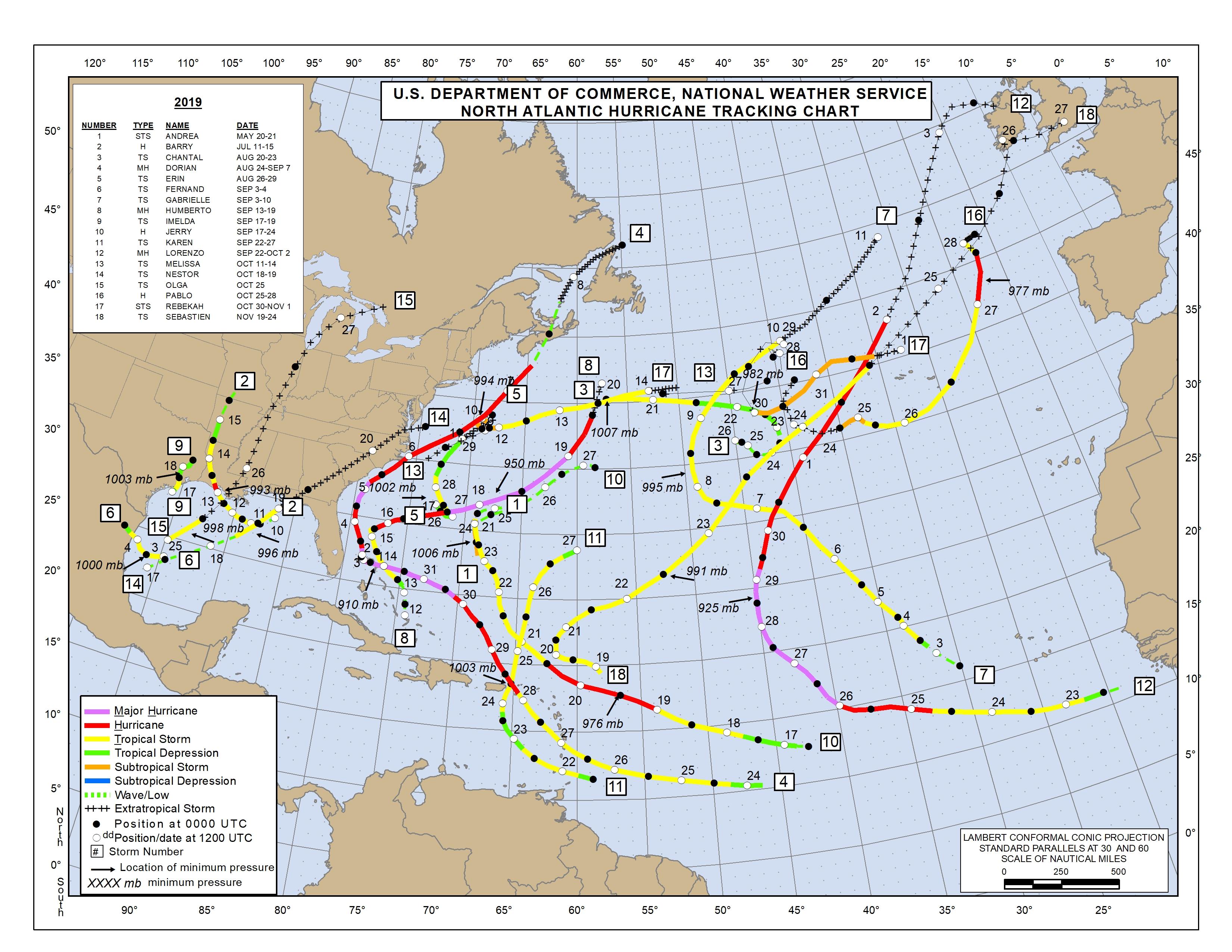 Atlantic Track Map
