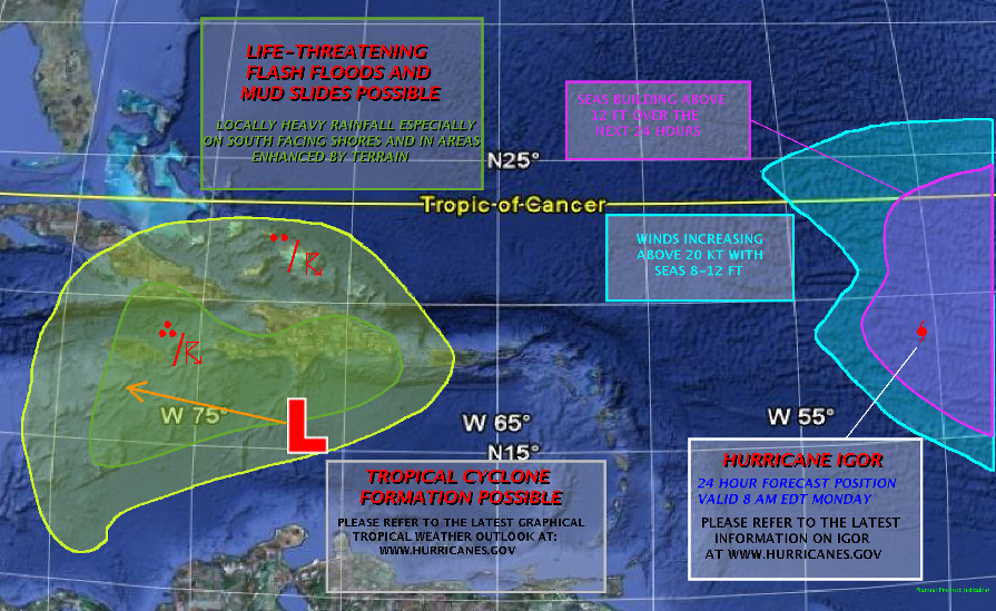 Marine Weather Map.Atlantic Weather Outlook Car Insurance Cover Hurricane Damage
