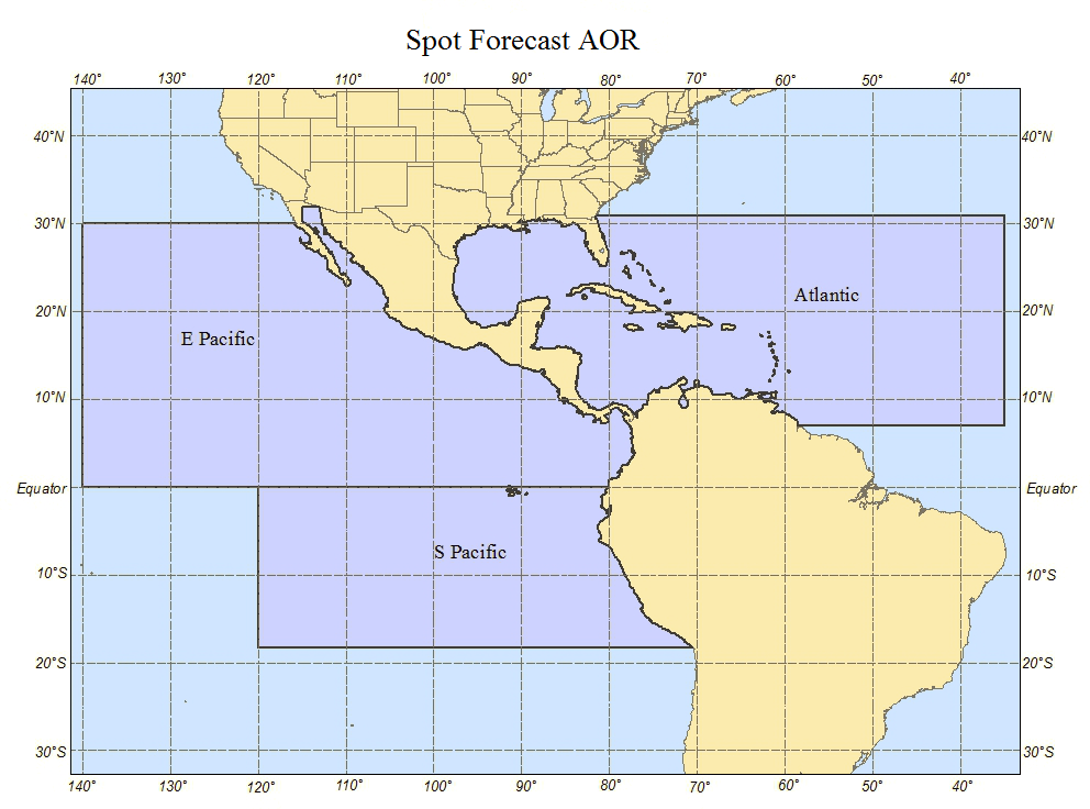 NHC TAFB Spot Forecast AOR