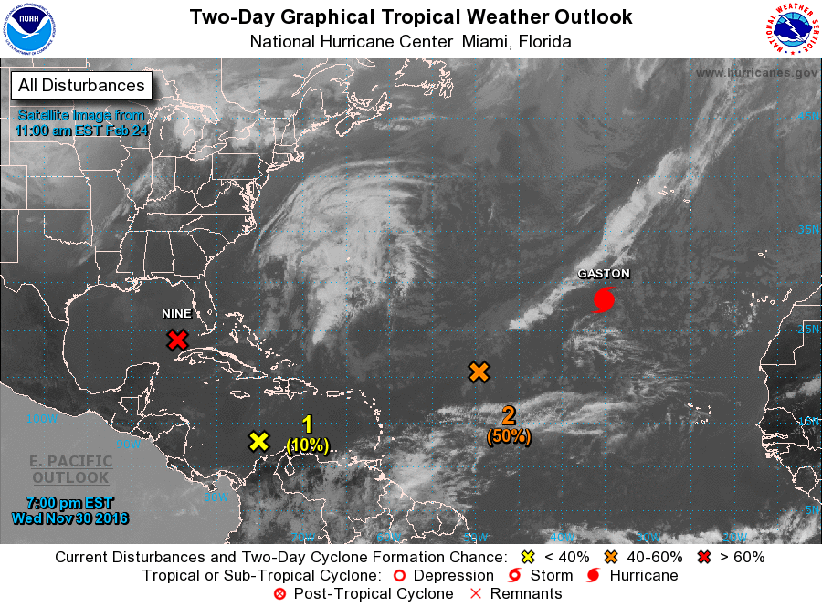 Graphical Tropical Weather Outlook Example Image