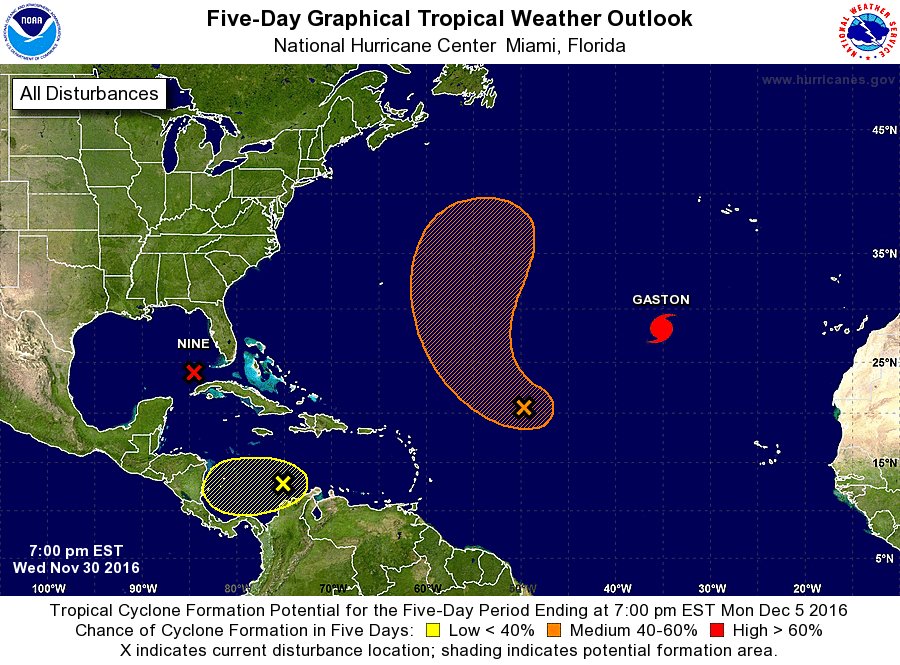 5-day Graphical Tropical Weather Outlook Example Image