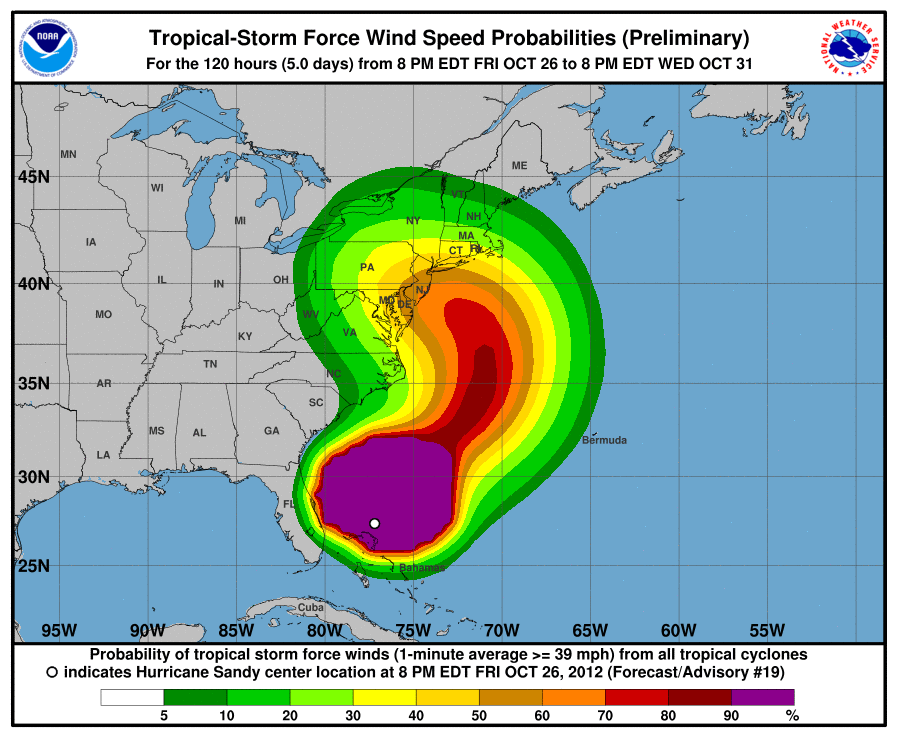 Tropical Cyclone Surface Wind Speed Probability Grahic image example