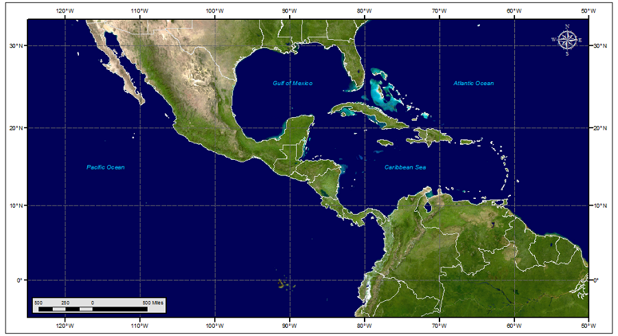 Marine Weather Map.Nhc Gridded Marine Forecasts