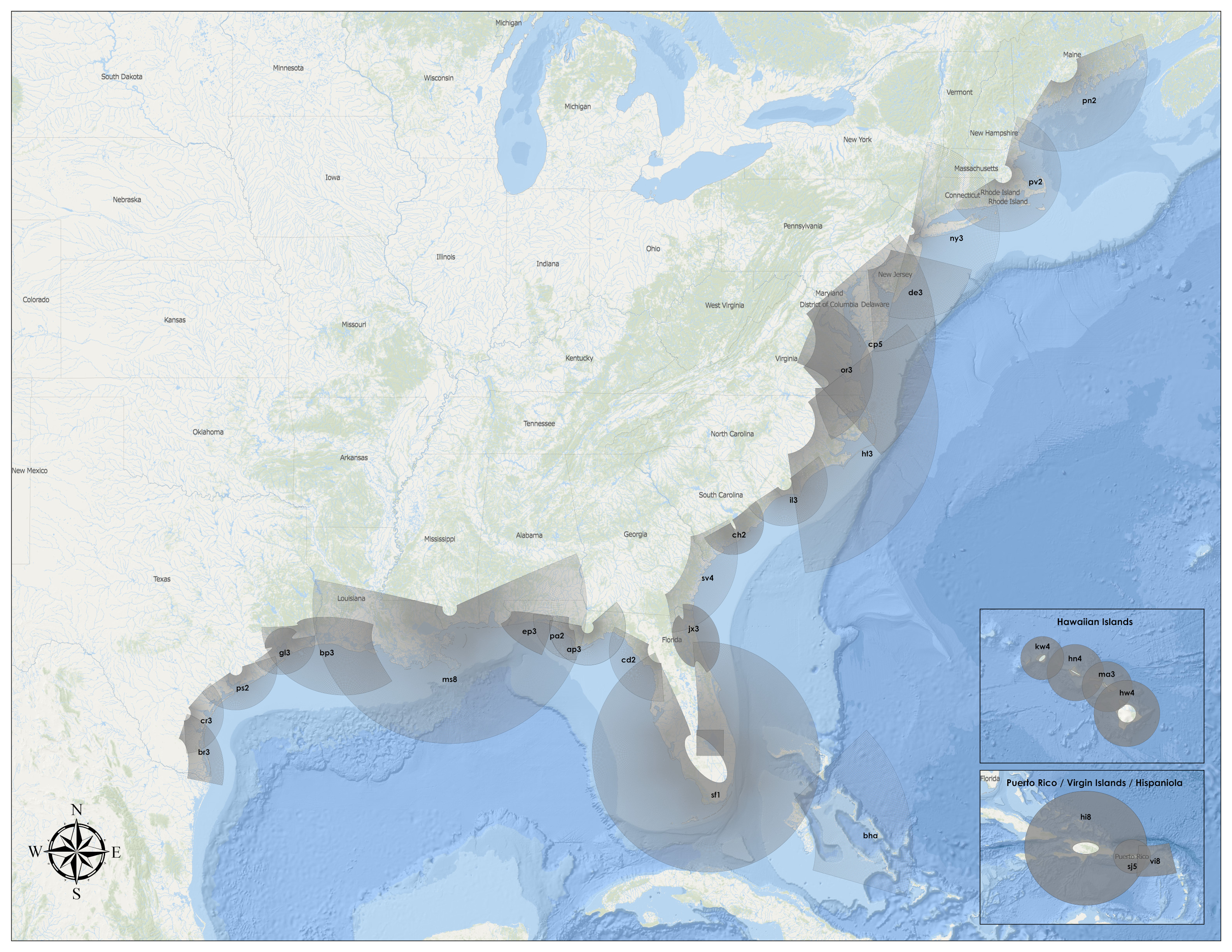 National Storm Surge Hazard Maps - Version 2 on