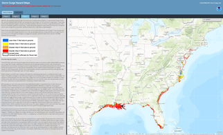 Thumbnail of Texas to Maine Storm Surge Hazard Map