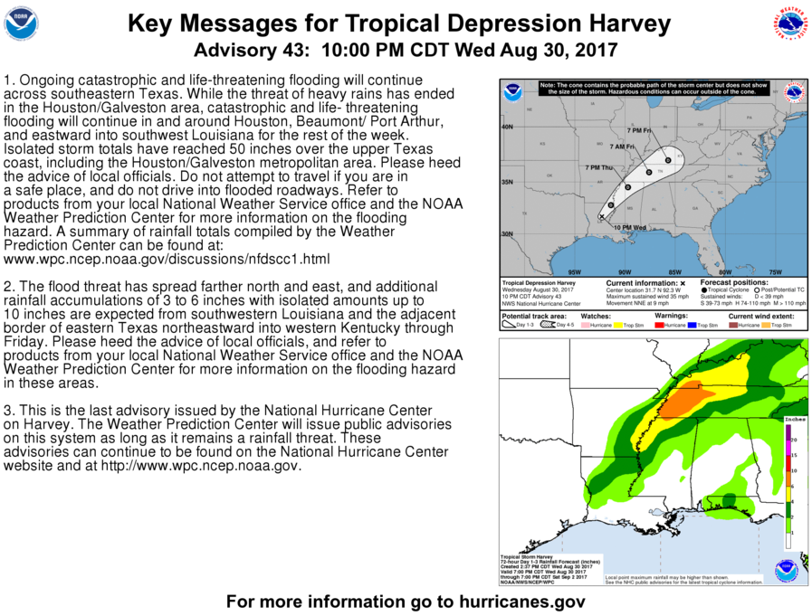 Tropical Storm Harvey continues to bring heavy rains and catastrophic flooding to Houston and other parts of southeast Texas, according to ...