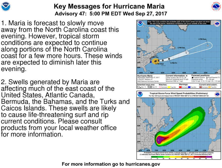 Maps Charting The Dangerous Path Of Hurricane Maria - Current us weather map 5 2 2017