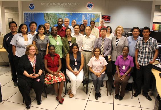 class picture of WMO RA-IV 2013 Workshop on Hurricane Forecasting and Warning