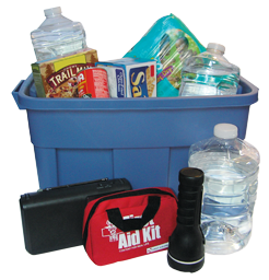 Image of an Example Disaster Supply Kit