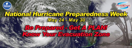 National Hurricane Preparedness Week 2014 Banner