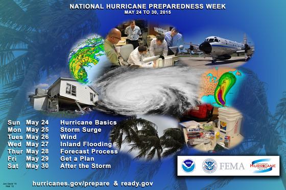 National Hurricane Preparedness Week 2014 Poster