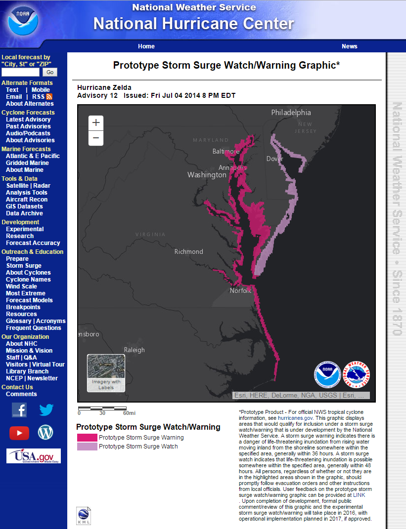 Storm Surge Watch Warning Graphic