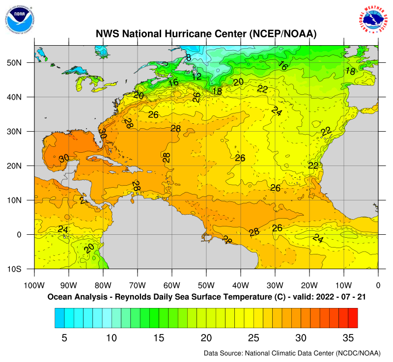 NHC Atlantic Daily SST Analysis