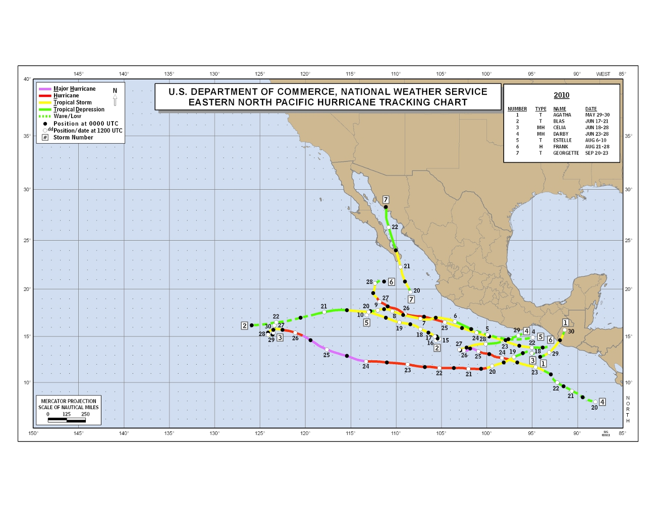 Hurricane tracking map for students