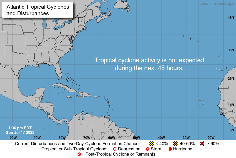 Click to view current National Hurrice Center Atlantic Basin status.