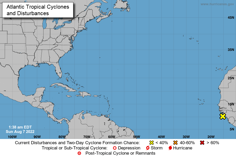 l'Atlantique Nord National Hurricane Center outlook