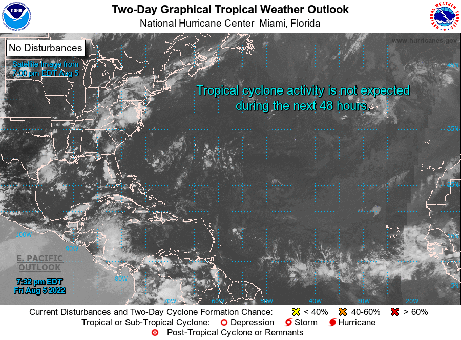 Tropical Satellite and Weather Outlook