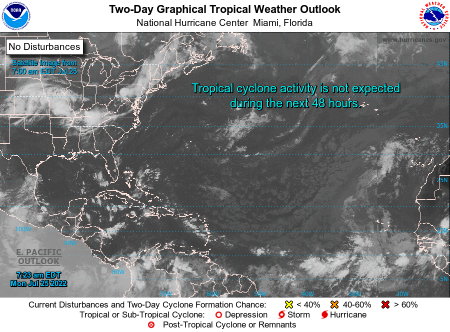 Current Atlantic Satellite Weather