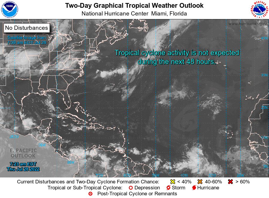 Atlantic Graphical Tropical   Weather Outlook National Hurricane center Miami florida