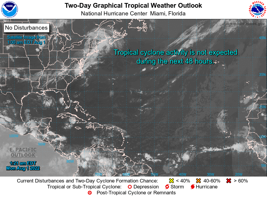 Latest Tropical Activity/Outlook image - to the National Hurricane Center Website