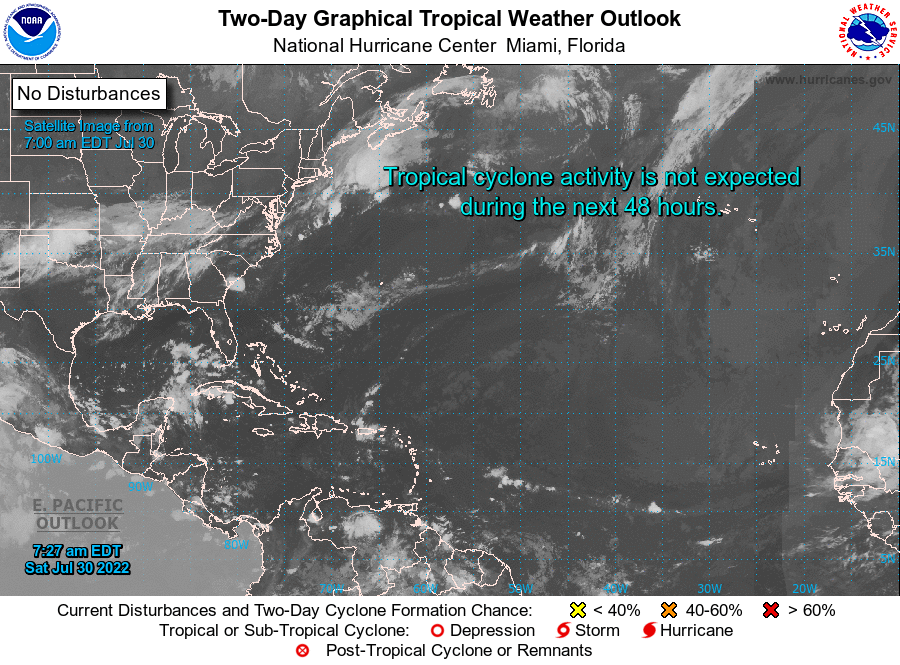 The Cyclone Season Live in the Atlantic Ocean, the Caribbean, Gulf of Mexico and Dominican Republic