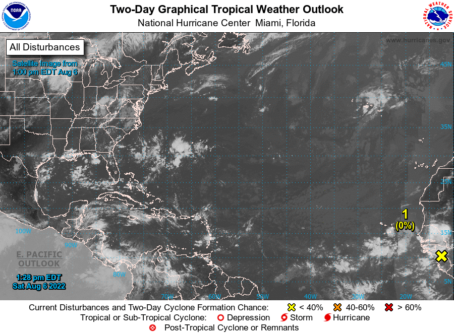 NHC's 2-Day Graphical Tropical Weather Outlook