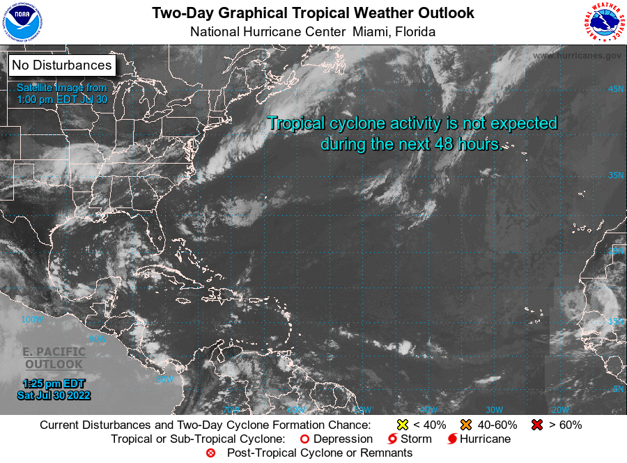 NHC Two Day Graphical Tropical Weather Outlook