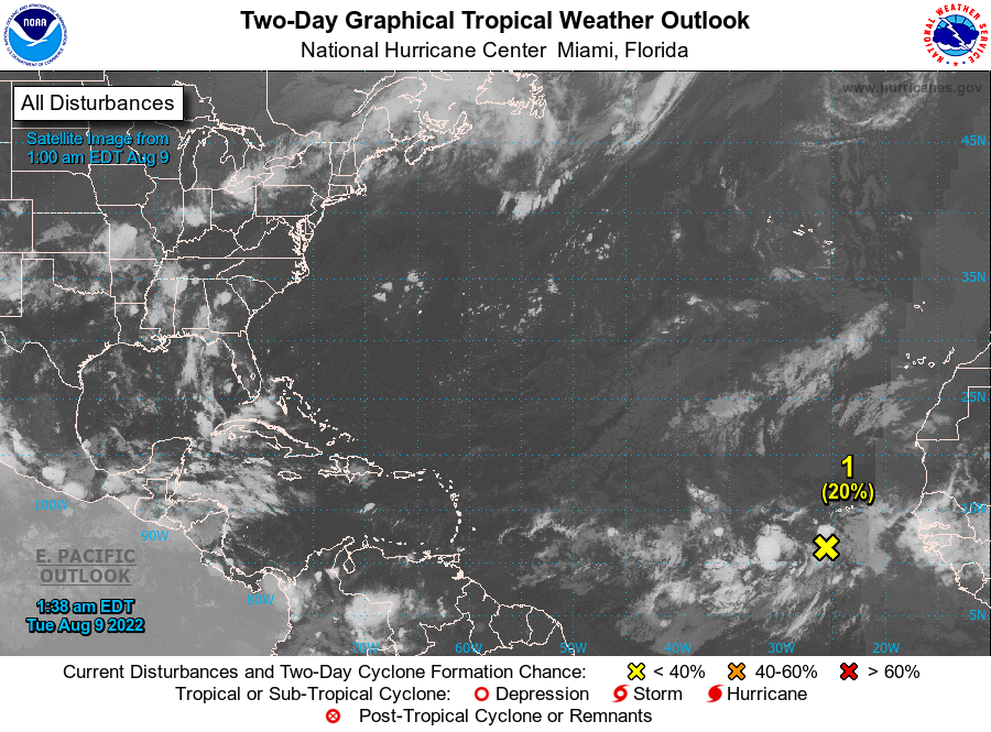 Graphical Tropical Weather Outlook. Please be patient while the latest image loads.