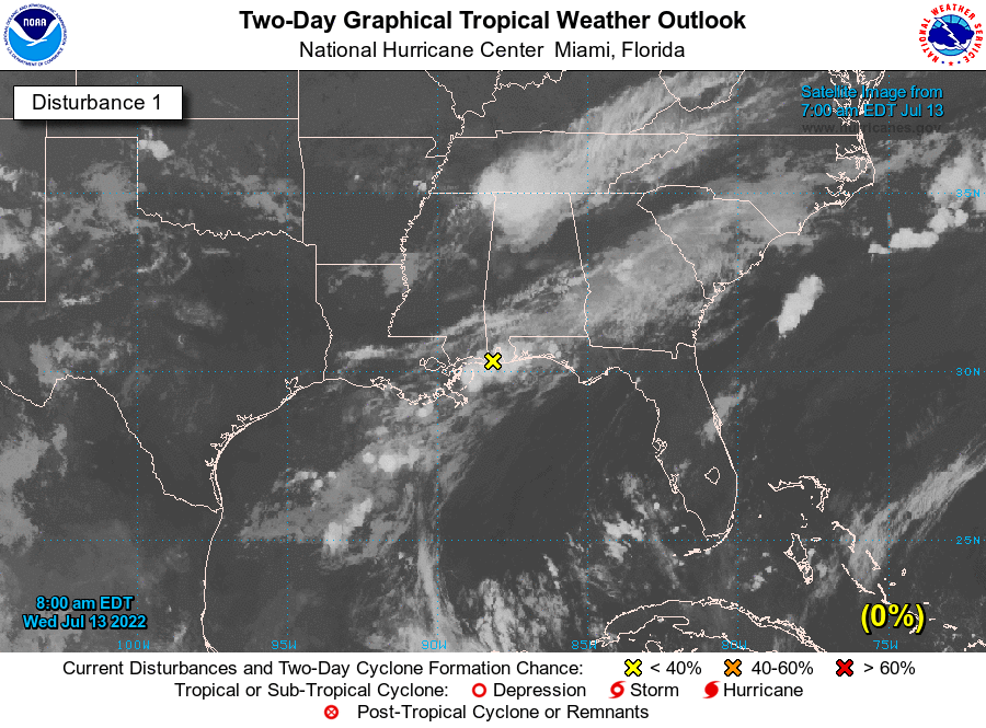 Atlantic 2-Day Graphical Tropical Weather Outlook - Disturbance 1