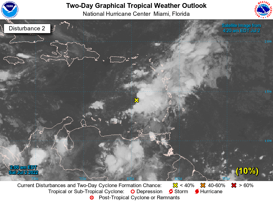 Atlantic 2-Day Graphical Tropical Weather Outlook - Disturbance 2