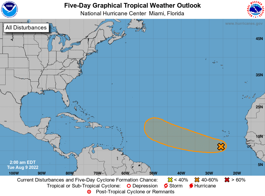 2 Day Tropical Weather Outlook Image