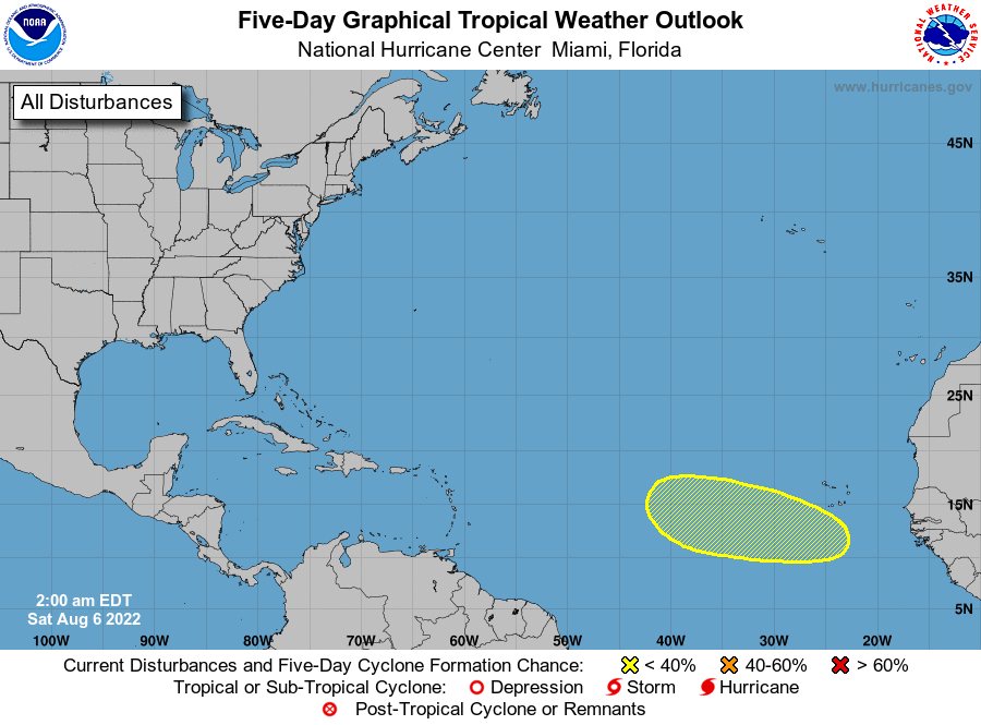 Atlantic 5-Day Tropical Outlook