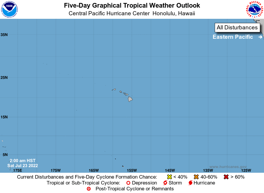 Five day tropical weather outlook for the Central Pacific basin