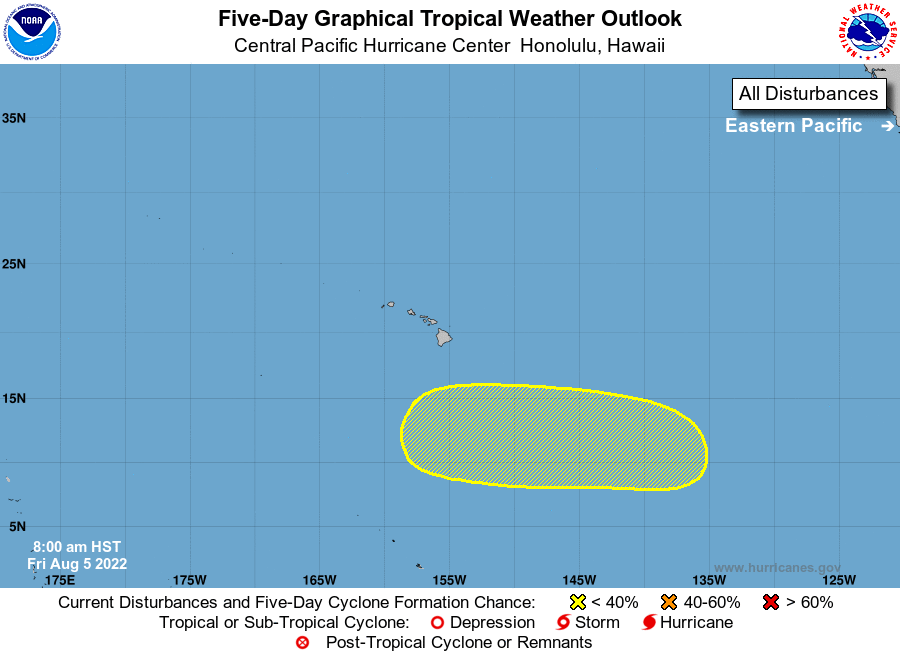 Central Pacific 5-Day Graphical Tropical Weather Outlook
