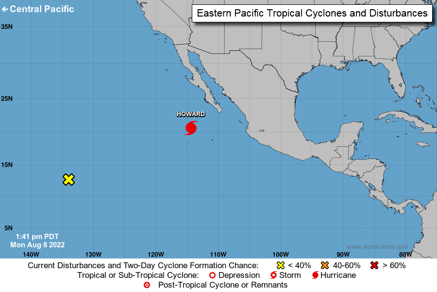 NOAA NHC Eastern North Pacific Map