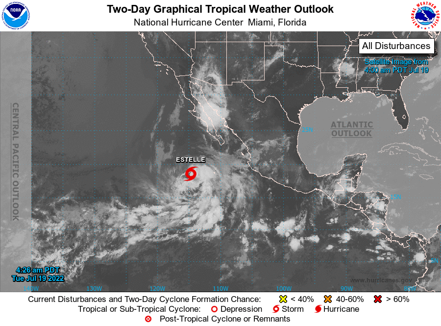 Pacific Storms and Hurricanes