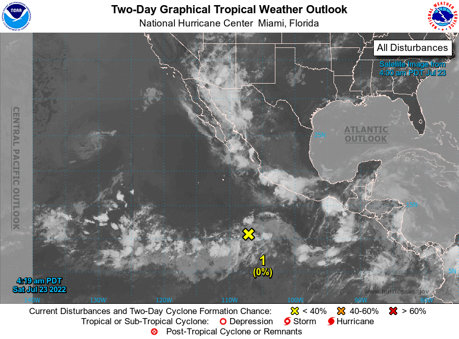 Graphical Tropcal Weather Outlook - East Pacific