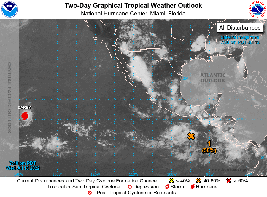 Eastern Pacific Graphical Tropical Weather Outlook
